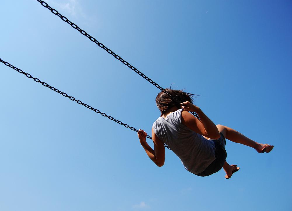 Girl on Swing  Burlington, VT
