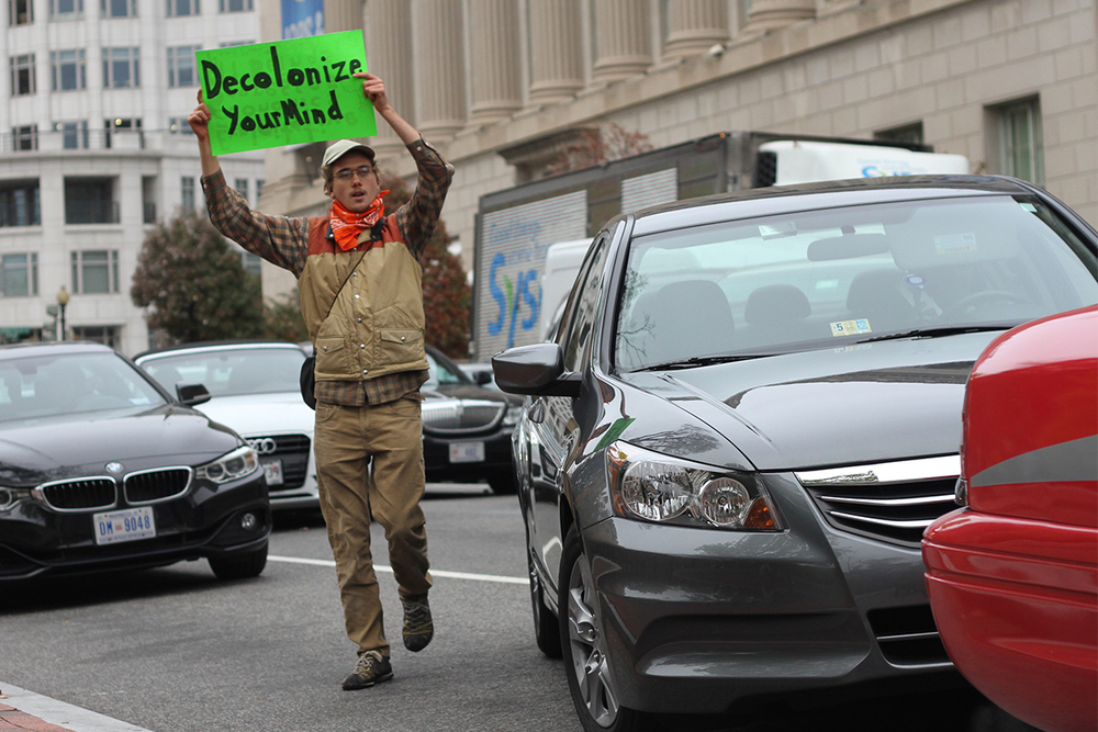 Protestor in Washington, D.C