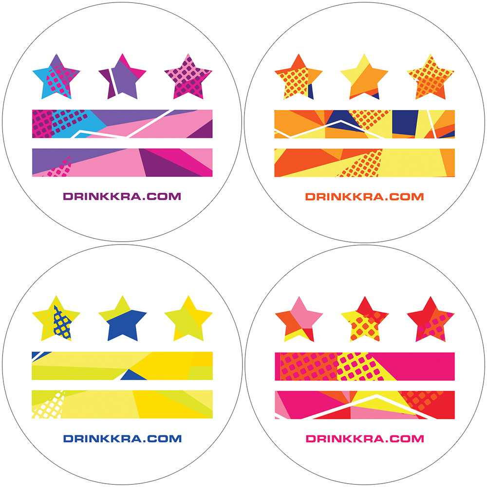 Stickers designed for Washington DC launch of KRa Drinks for Athletes.