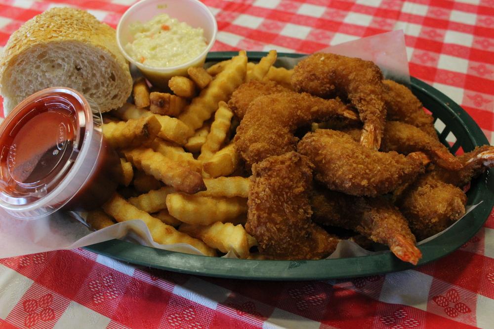 JUMBO SHRIMP DINNER 1/2 LB: $ 10.99