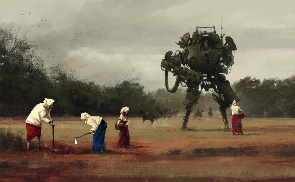 Harvest by Jakub Rozalski