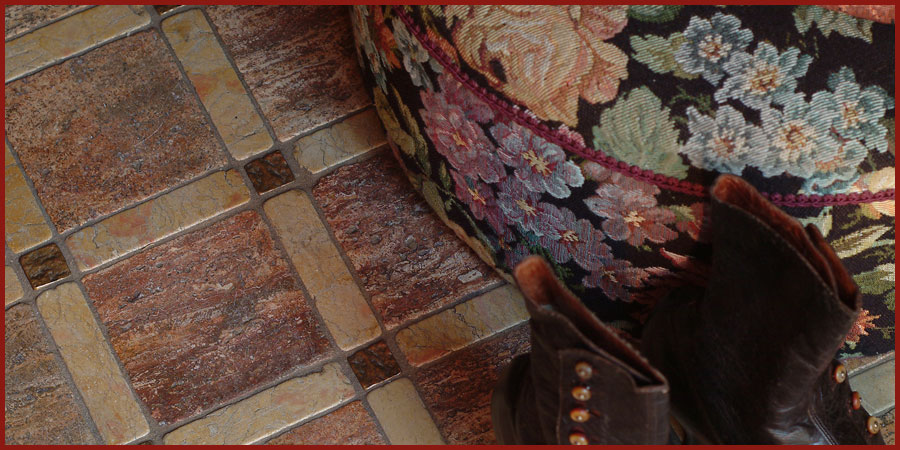 Custom floor tile assemblage