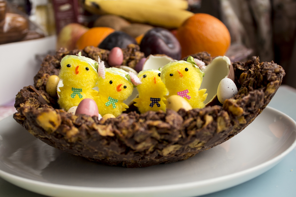 Easter chocolate nest