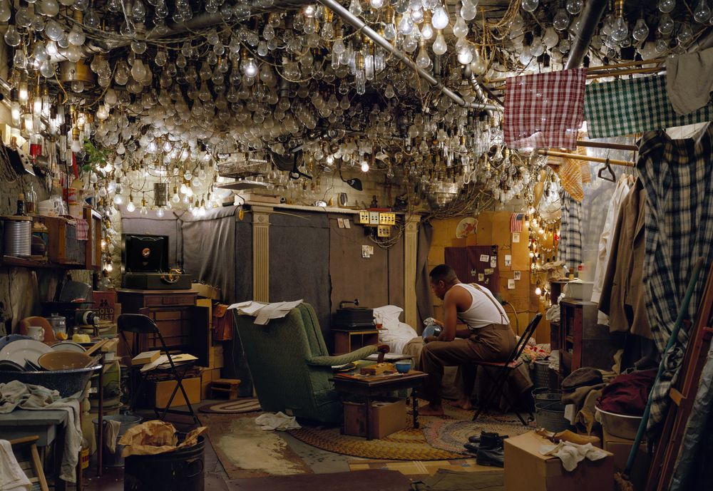 "Jeff Wall - After ""Invisible Man"" by Ralph Ellison, the Prologue (2000)"