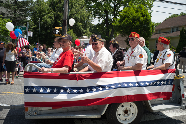 Veterans take part in the Whitestone Memorial Day Parade.