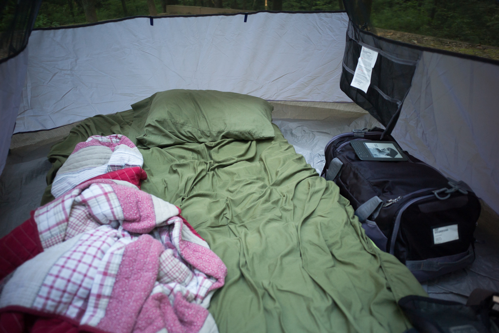 Campground bed.