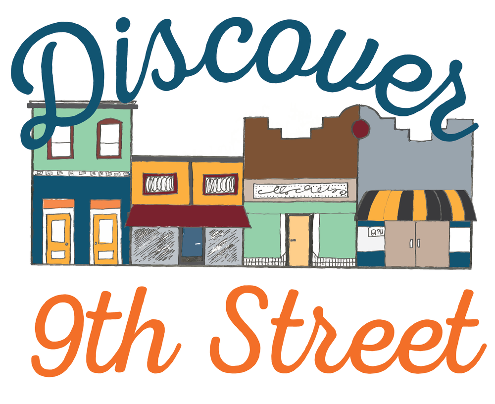 The new Ninth Street logo, which combines hand-drawn elements with traditional fonts.