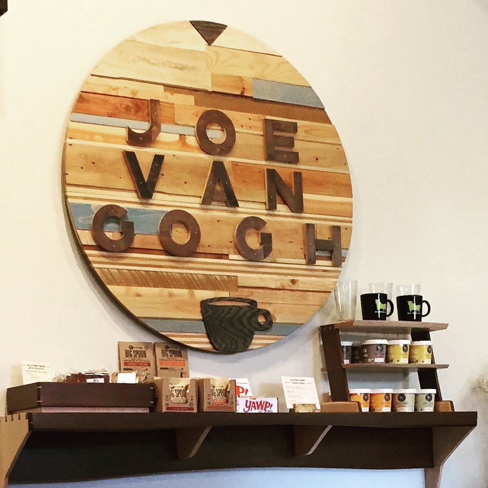 Woodworking as warm and rich as the coffee you're about to order at Joe Van Gogh.