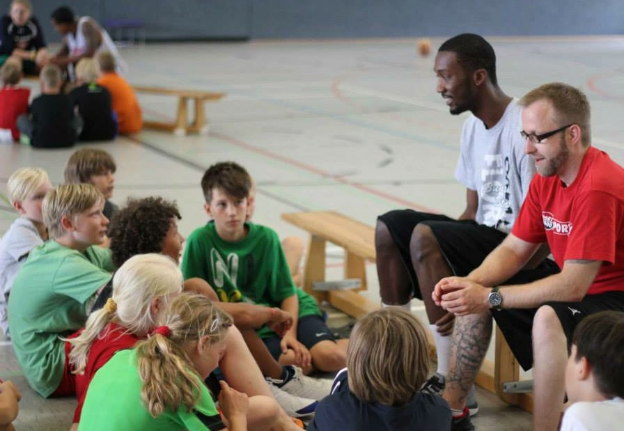 Teaching a camp in Wolmerstedt, Germany.
