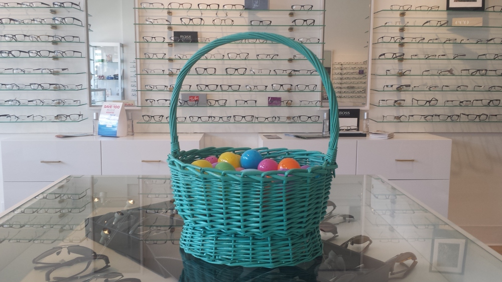The Easter bunny has been good to us here at Eye Spy Optometry.