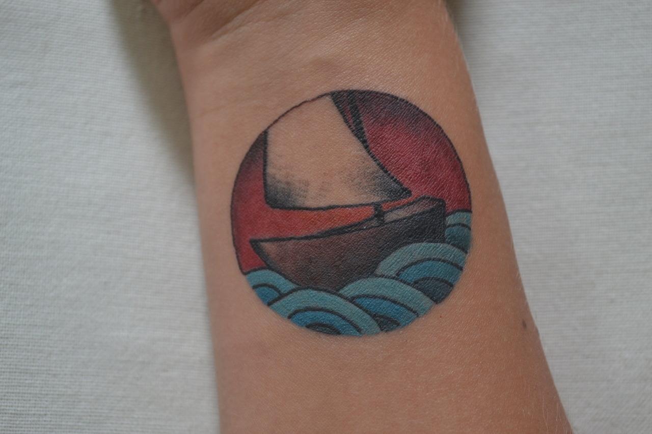 Violet's sailboat.
