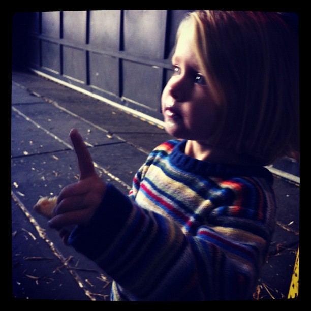 Hailing the hay ride driver (Taken with  Instagram  at Reading Terminal Market)