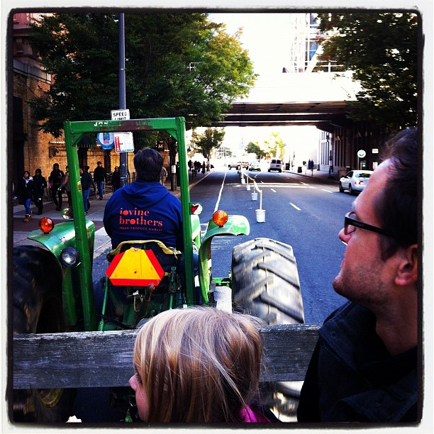 Hay ride in center city!! (Taken with Instagram at Reading Terminal Market)