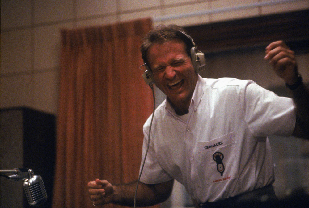 "Robin Williams in ""Good Morning Vietnam"""