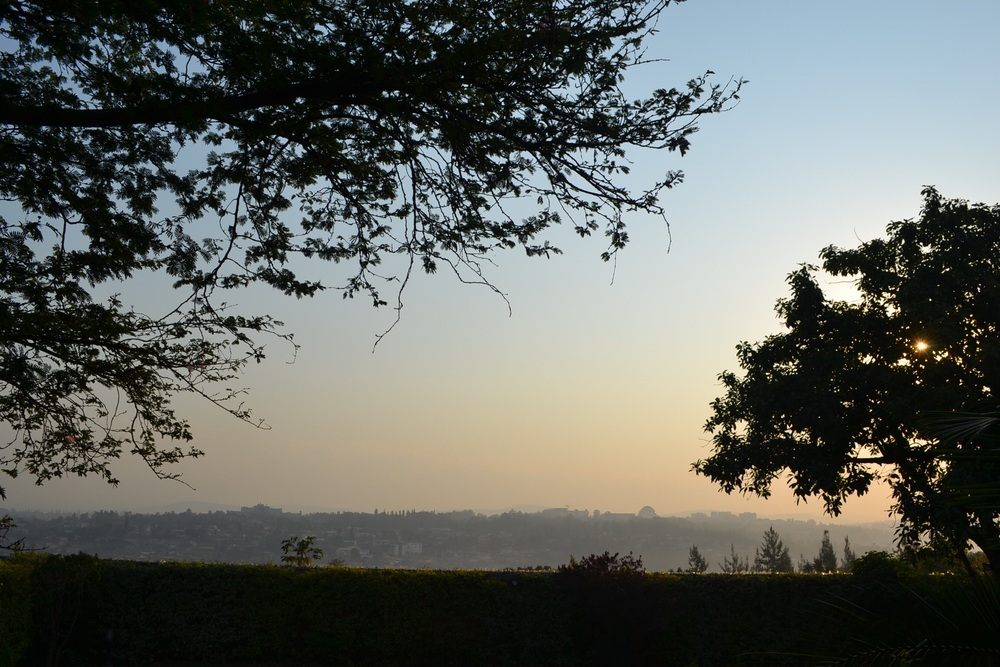 a morning view from one of the guest houses at which we stayed last week (Copyright Heather Drew 2015)