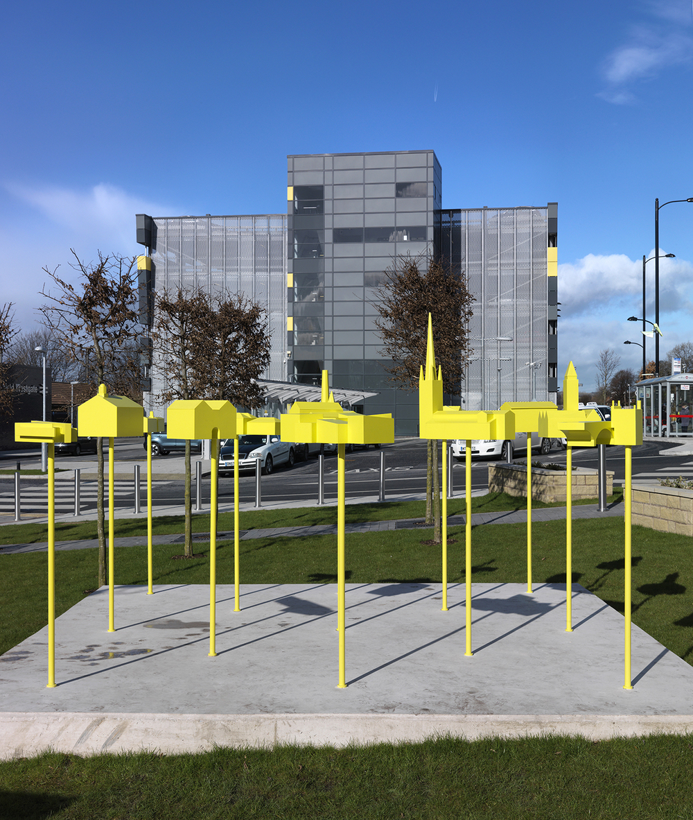Our new artwork was installed as a centrepiece for the new station in Wakefield, to connect the station to the rest of the city.
