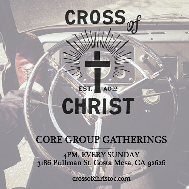 nickbogardus :     4pm tomorrow is our first Core Group gathering: Jesus, worship, & dinner together after.
