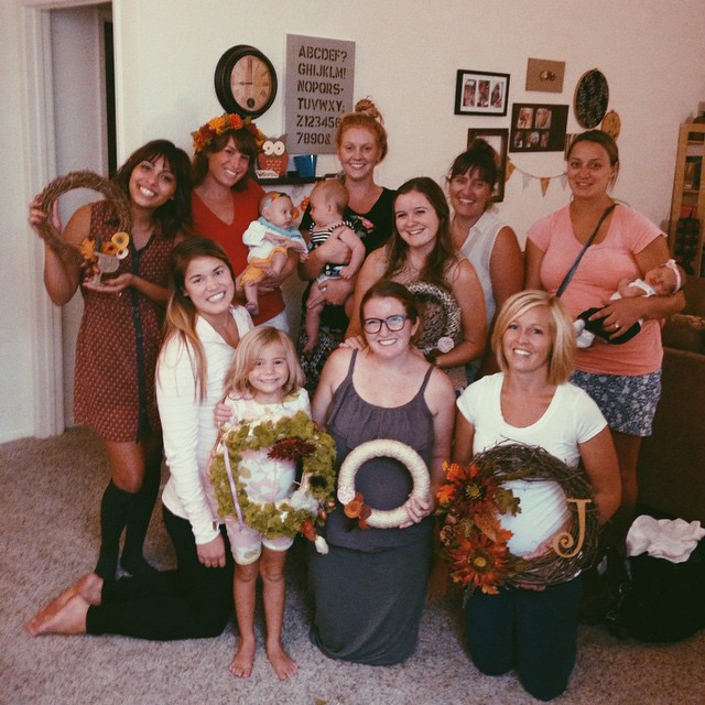 Some of the women got together for a Fall DIY craft night.