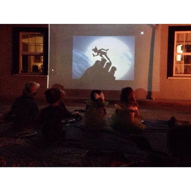 A birthday party for one of the children complete with an outdoor screening of Peter Pan.