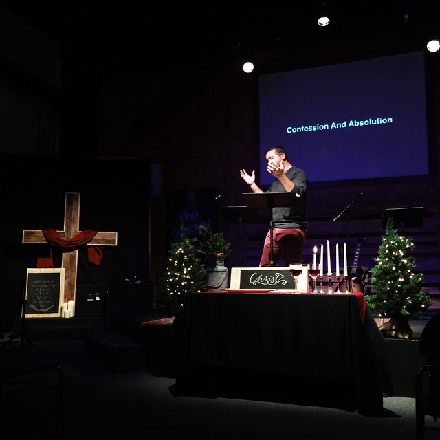 Pastor Nick preaching the first Sunday of Advent.