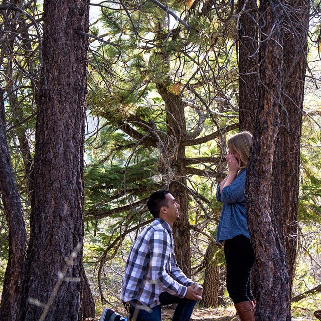 This past month, Tim and Katie got engaged up in Big Bear with their Community Group surrounding them.