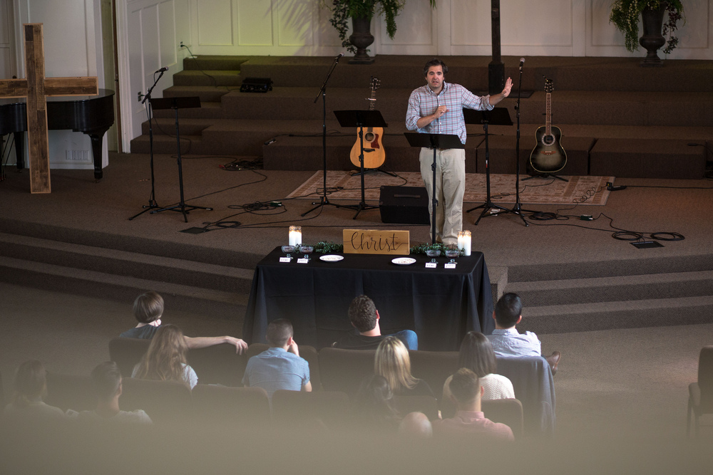 David Zahl stayed to preach to us the Sunday after the event.