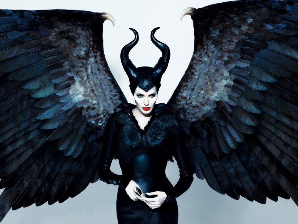 Angelina Jolie starring in Disney's Maleficent.