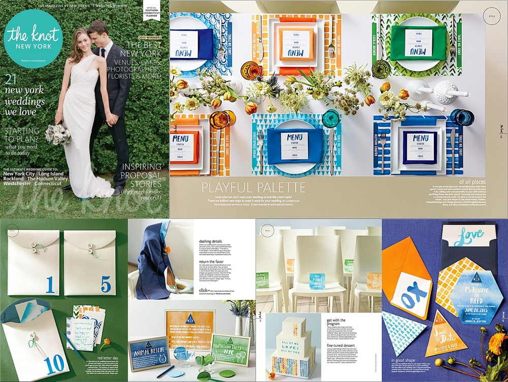 Brooklyn Wedding Planner Jove Meyer Events Featured in The Knot 2015 Spring Magazine