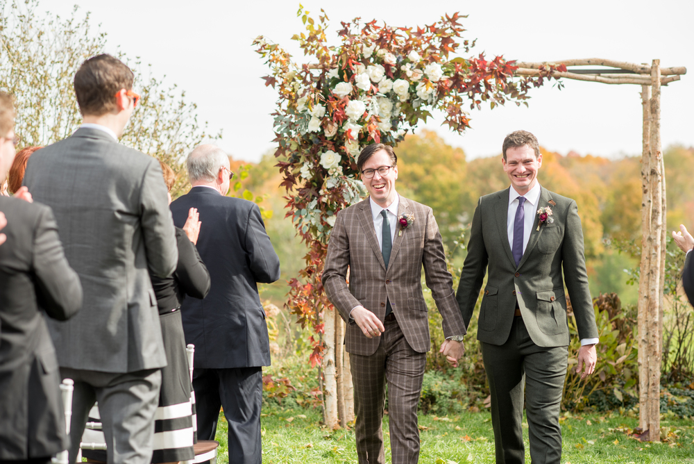 Catskill Wedding Planner Jove Meyer created a chic fall upstate wedding for this handsome couple!
