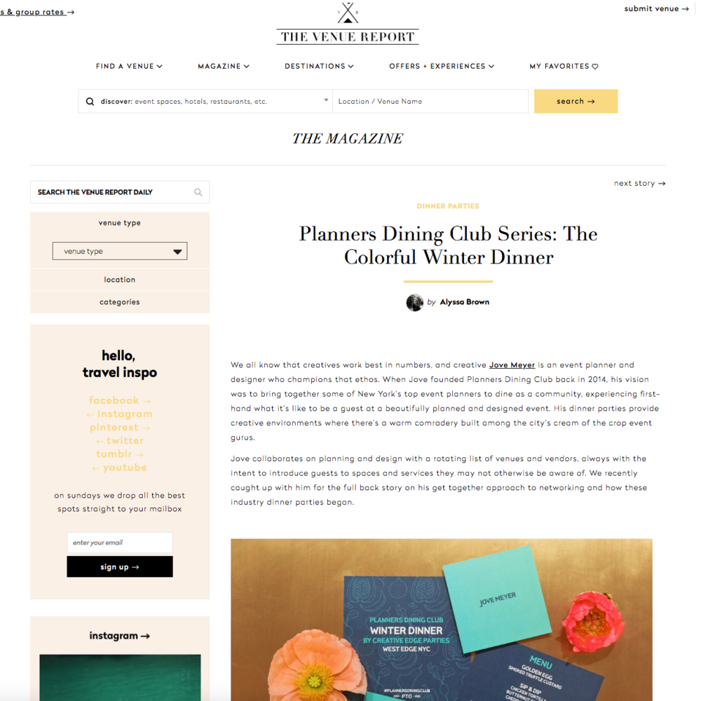 Jove Meyer's Planners Dining Club