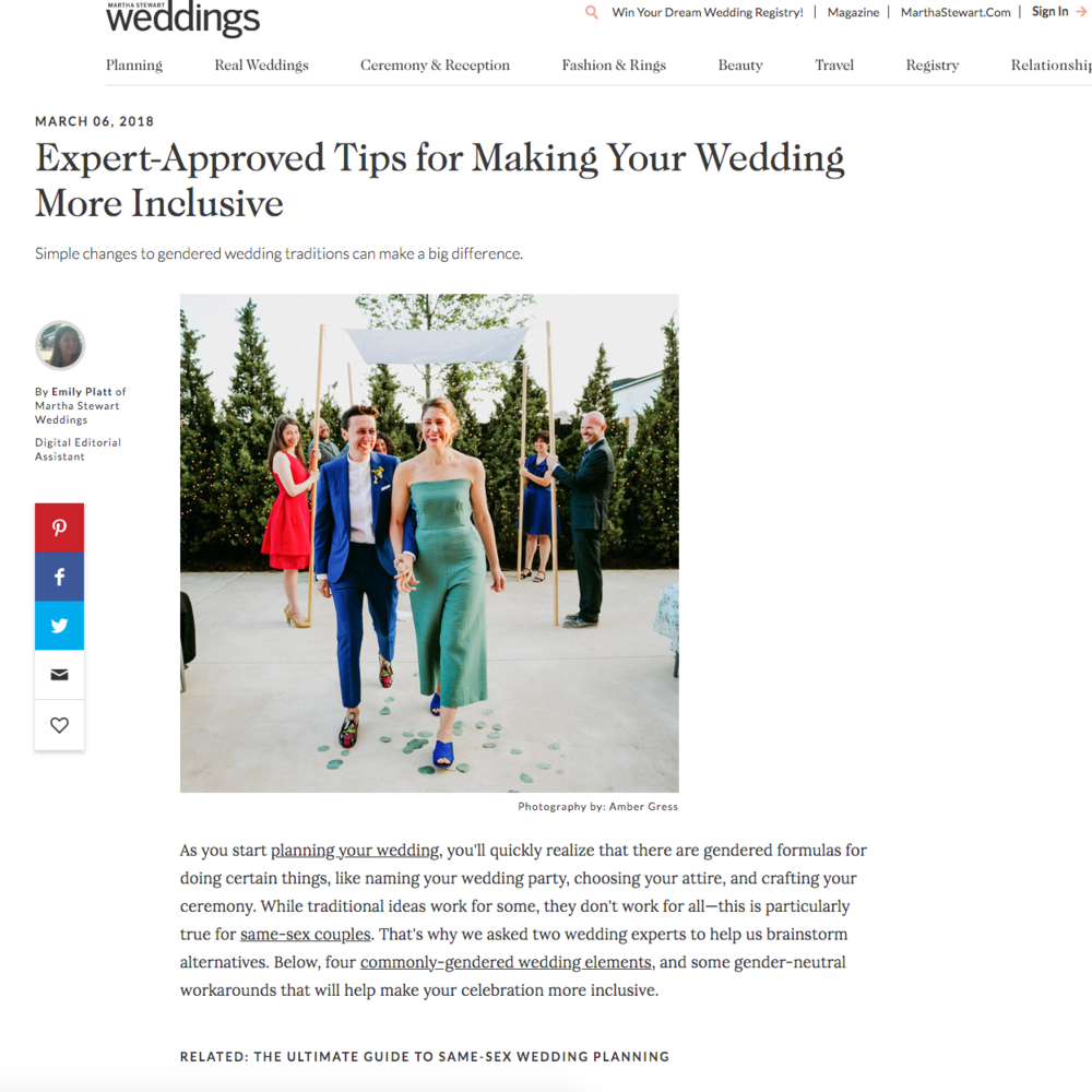 queer wedding planner jove meyer shares tips with martha stewart