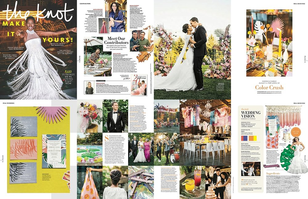 jove meyer wedding in the knot national magazine