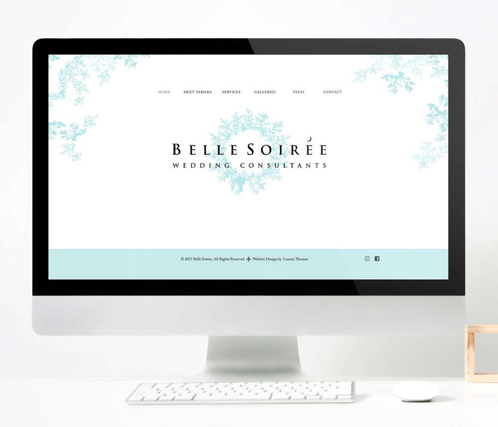 Belle Soiree  |  Website Layout