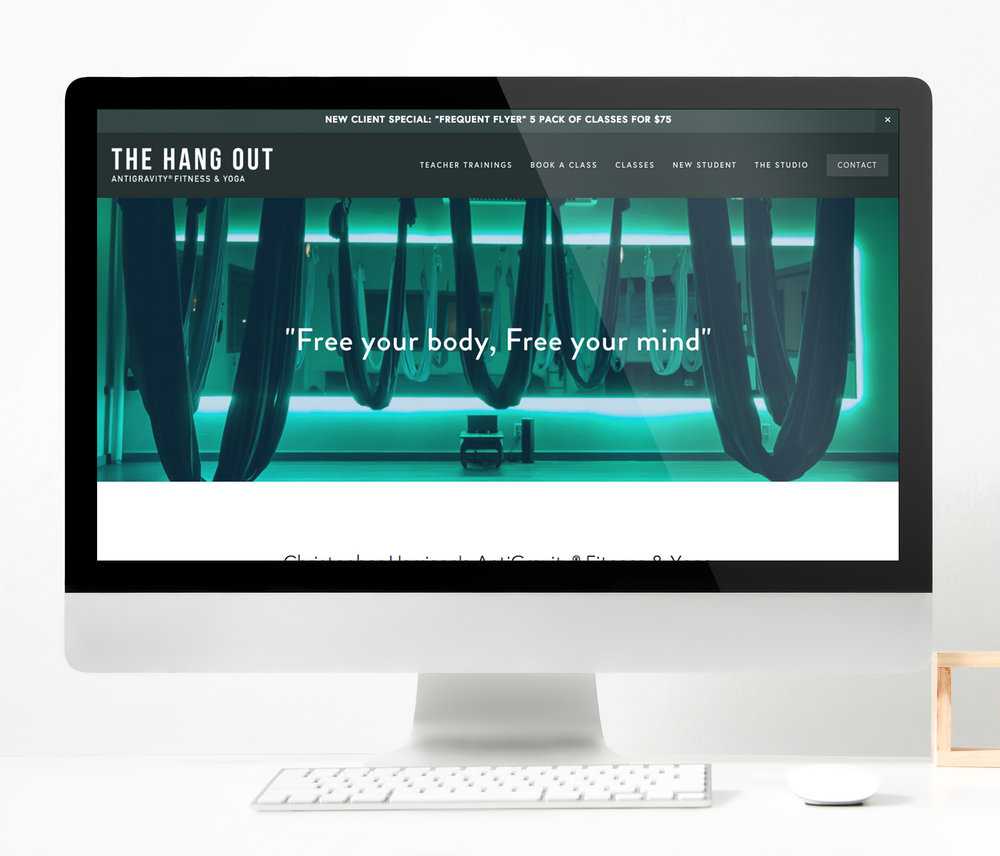 The Hang Out  |  Website Layout
