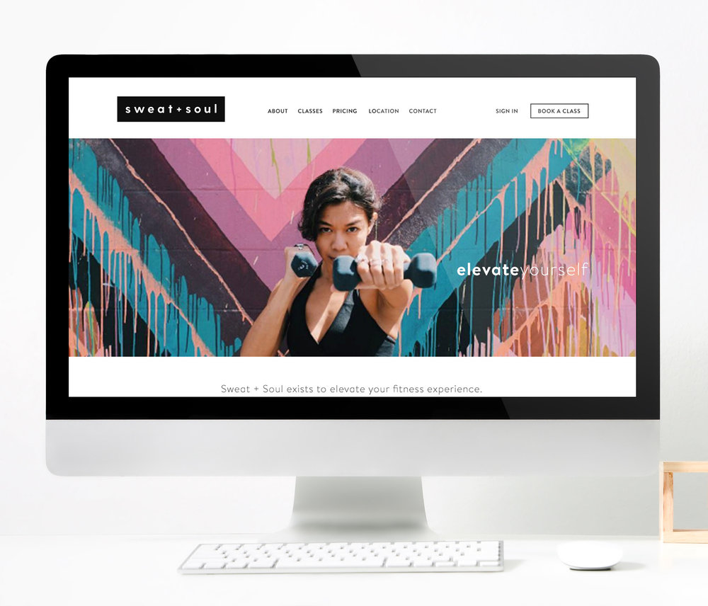 Sweat + Soul Studio  |  Website Design In-Progress