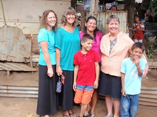 Jenny, Jill, and Ann with Lisette, Isaac, Alejandro