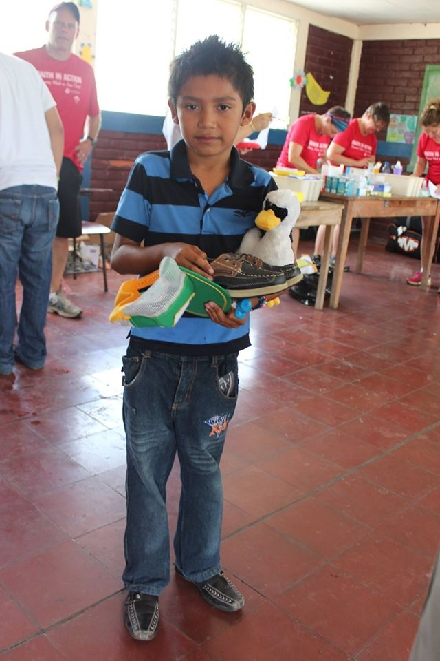 We were able to give out many of the items donated to people in need.