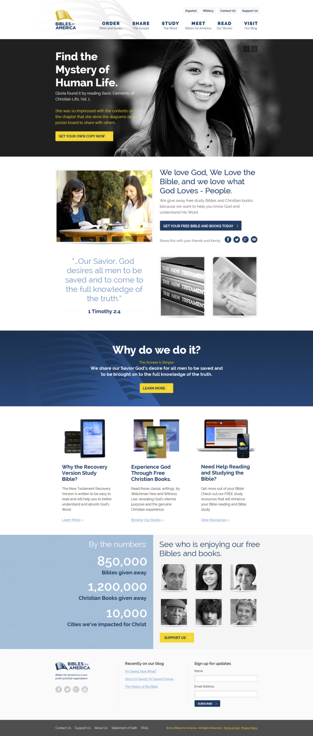 Home page visual design by Churchmedia