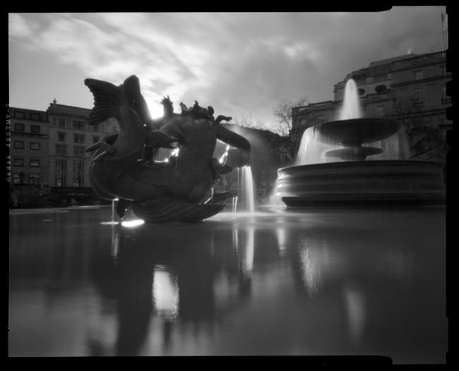 Trafalgar Square Pinhole, by Vince Donovan