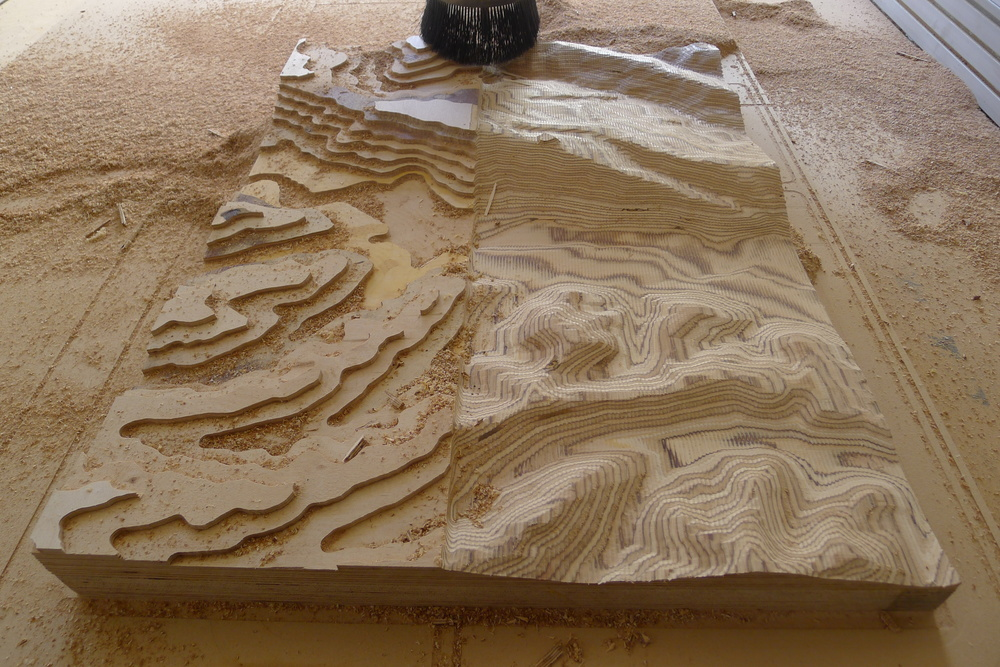 CNC Milled Topography