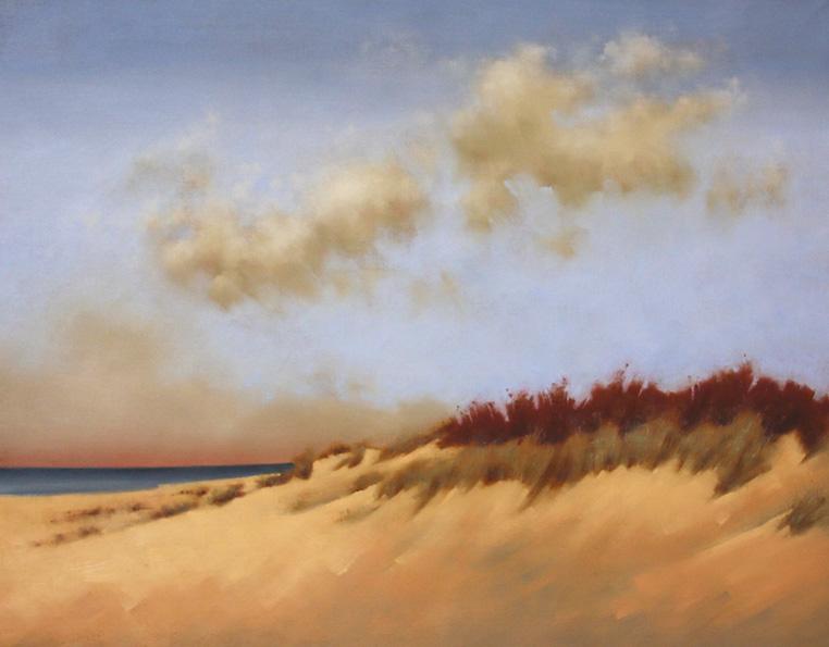 %22mostly sunny%22 original oil on canvas 24x30%22 shadow framed $1800.jpg