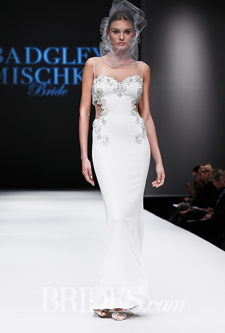 Badgley Mischka, Fall 2015. Photo courtesy of brides.com
