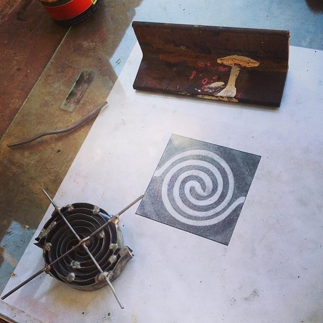 The process.... Mini coasters by Trine Ellitsgaard at #zonamaco #trineellitsgaard #oaxaca