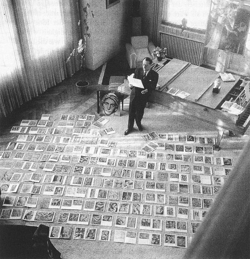 Maurice-Jarnoux-André-Malraux-selecting-photographs-for-Le-musée-imaginaire-1947-Paris-Match.jpg