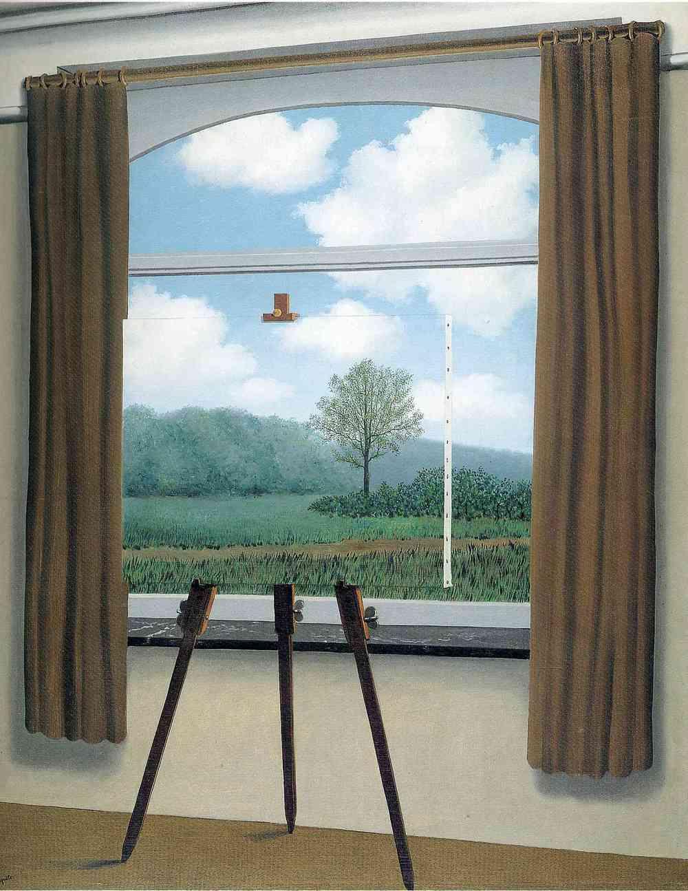 La condition humaine / A condição humana(René Magritte, 1933)