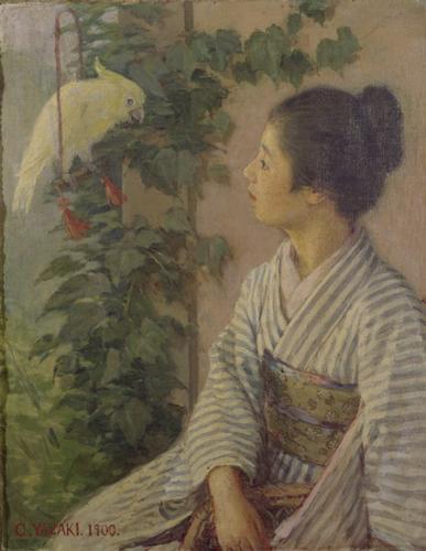 Chiyoji Yazaki, 1900