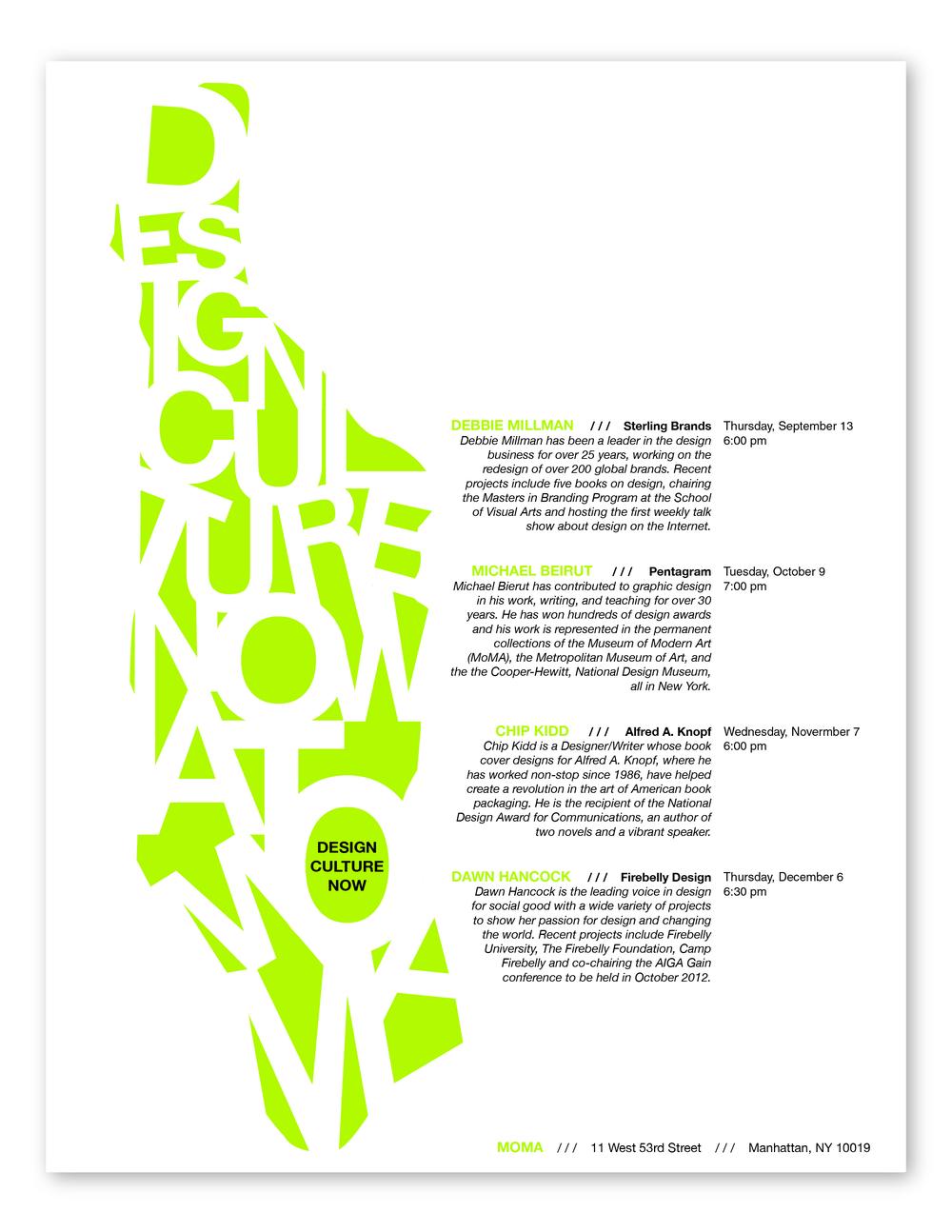 Event Poster | Design Culture Now, Manhattan Silhouette