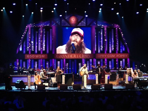 Crowder performs at the Grand Ole Opry on May 31, 2014