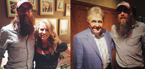 Crowder backstage at his Grand Ole Opry debut with Deana Carter and Bill Anderson