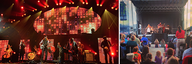 Crowder performs at the K-LOVE Fan Awards in Nashville and a KSBJ Brown Bag Concert in Houston, TX.   Left Photo Credit: Getty Images/Rick Diamond